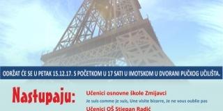 Soirée de la culture  française à travers des chansons et des poèmes à Imotski